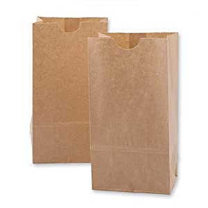 Mini Kraft Paper Bags 100 per pack (1): Amazon.com: Industrial ...