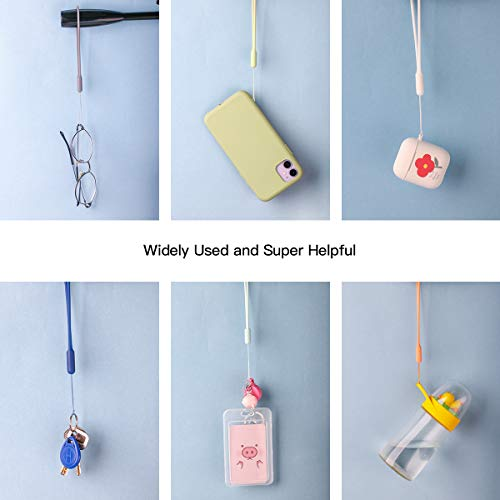 5 Packs Wrist Lanyard Silica Gel Smooth Wrist Strap Grip for Cell Phone USB Flash Drive Key iPod Mp3 MP4 ID Card Badge and Other Small Devices