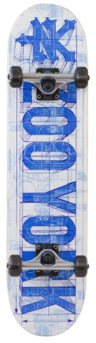 Zoo York, Heritage Compete Skateboard,  Blue Print White ZOO01001