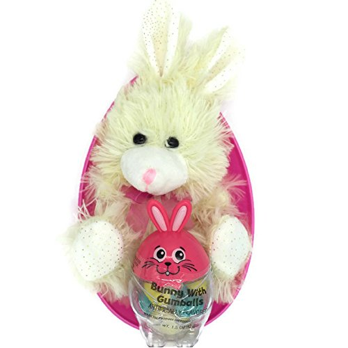 JUMBO Easter Egg Filled with Off White Chocolate-Scented Bunny Plush Toy Bundle (Jumbo White Bunny Kit)