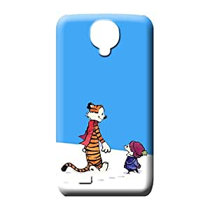 samsung galaxy s4 Shock Absorbing PC series mobile phone carrying skins calvin and hobbes snow walk