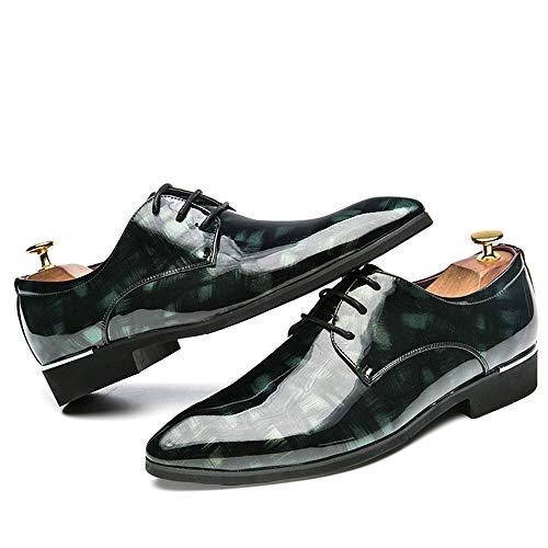 in Colore Retro Personality Basse Xujw verniciata traspirante Business Color sportive Verde 43 pelle shoes EU Brush Scarpe 2018 Oxford Stringate Fashion Dimensione Nero Casual Men's Scarpe wPOafwq