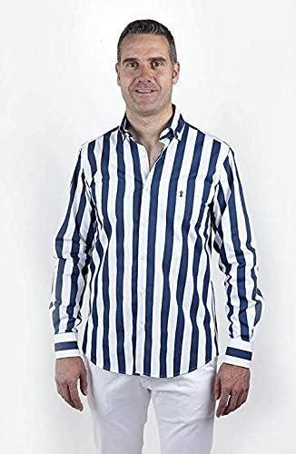 Camisa Sport de Rayas Azul Marino para Hombre   Nueva ...