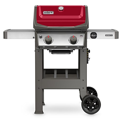 Weber 44070001 Spirit II E-210 2-Burner Liquid Propane Grill, Red (Best 2 Burner Grill)