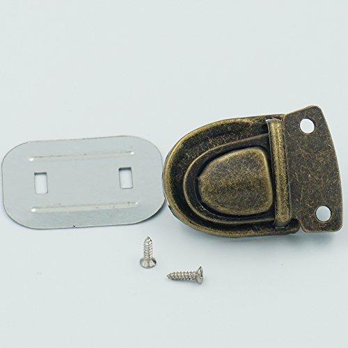 UPC 712411678128, Bluemoona 10 Set - Travel Bag Tuck Lock Clasp Closure Catch with Screw (Bronze)