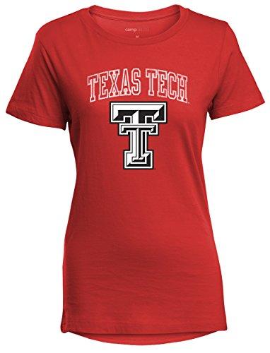 Camp David NCAA Texas Tech Red Raiders Perfect Women's Crewneck Tee, Red, Large