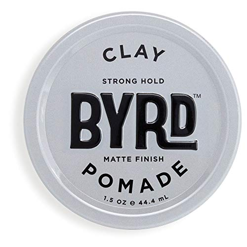 (BYRD Clay Pomade - Strong Hold, Ultra-Matte Finish, For All Hair Types, Mineral Oil Free, Paraben Free, Phthalate Free, Sulfate Free, Cruelty Free, Eucalyptus Scent, 1.5 Oz )
