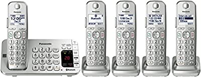 Panasonic KX-TGE474S Link2Cell Bluetooth Cordless Phone with Answering Machine- 4 Handsets