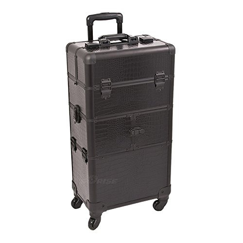 Craft Accents I3264 Croc Trolley Craft/Quilting Storage Case, Black