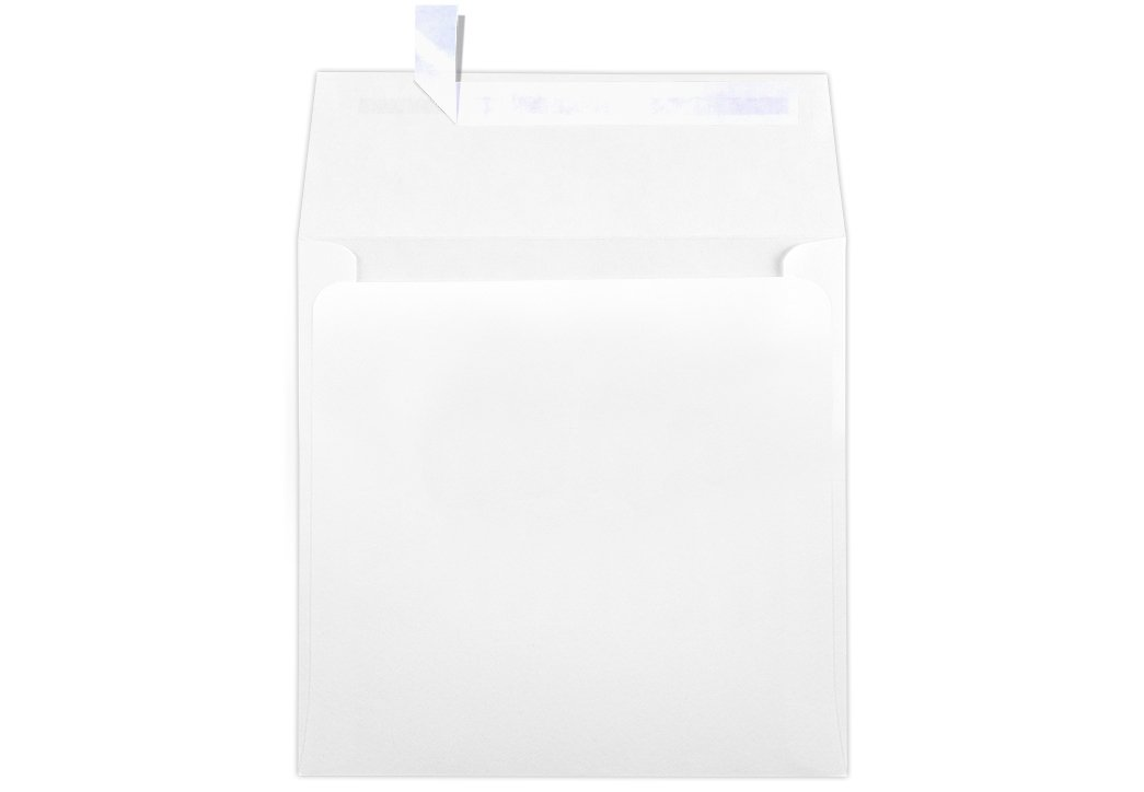 6 x 6 Square Envelopes w/Peel & Press - 70lb. Bright White (250 Qty.) | Perfect for Invitations, Announcements, Greeting Cards, Photos | 10910-250 by Envelopes.com
