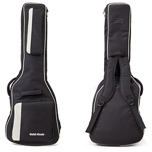 Electric Guitar Gig Bag by Hola! Music, Deluxe Series with 15mm Padding, Black (Stratocaster Deluxe Case)