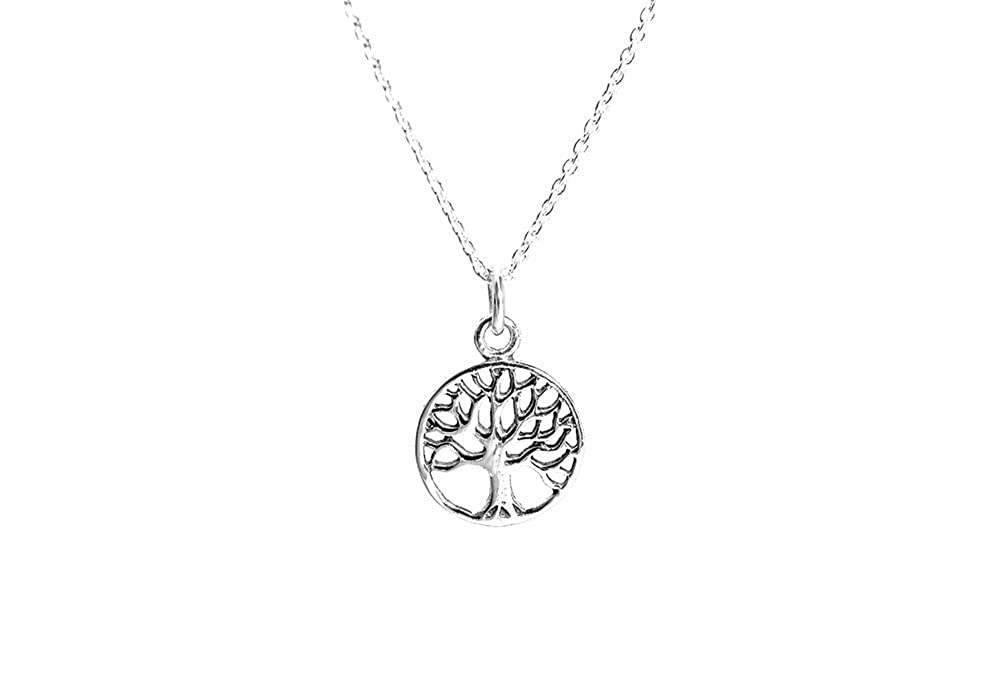 30 inch apop nyc Sterling Silver Mini Tree of Life Pendant Necklace 16 inch