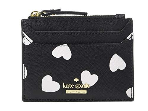 Kate Spade New York Women's Cameron Street Hearts Lalena Card Case, Black/Cream, One Size