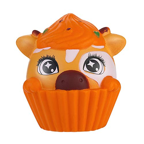 Squeeze Stress Reliever Puppy Big Eyes Cream Scented Slow Rising Toys Gifts (Orange)