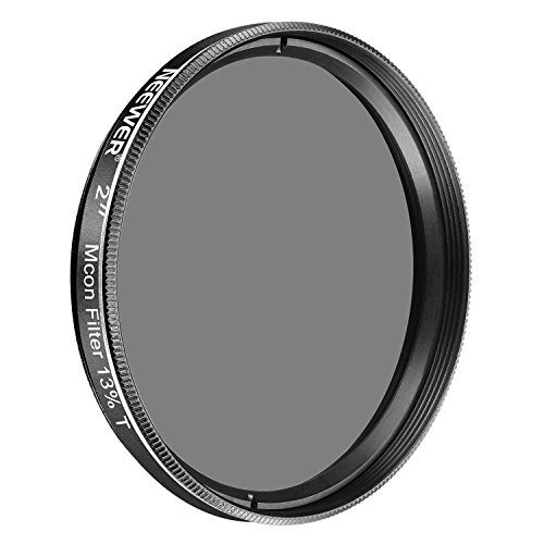 Neewer 2 inches 13 Percent Transmission Moon Filter Optical Glass with Metal Cell Construction for Telescopes to Dim the View, Increase Contrast, Reduce Glare and Increase Detail