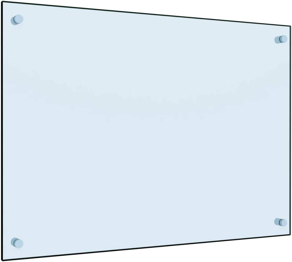 Festnight Kitchen Splashback Backguards Backsplash Thick Heat Resistant Glass White 70x50 cm Tempered Glass