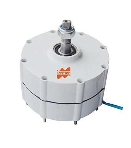MarsRock 500W 900r/m 12/24/48V Permanent Magnet Generator AC Alternator for Vertical Wind Turbine Generator (48V)