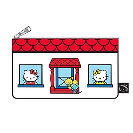 Image Unavailable. Image not available for. Color  Sanrio Hello Kitty House Loungefly  Pencil Case or Cosmetic Bag 1615accd737cc