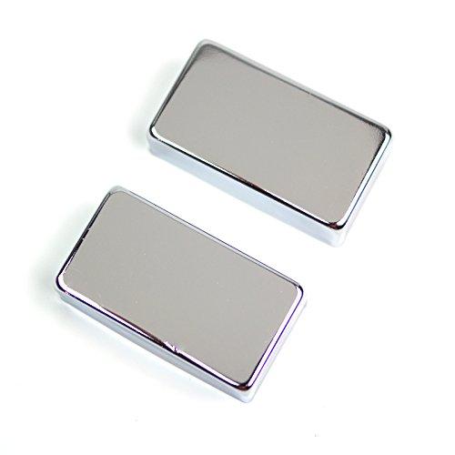 Cover Humbucker Chrome (Metal Regular Humbucker Pickup Cover No Pole holes ,Chrome (set of 2))