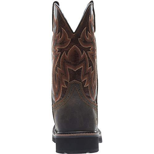 Wolverine Men's Rancher Wpf Soft Toe Wellington Work Boot,Dark Brown,9.5 2E US by Wolverine (Image #6)