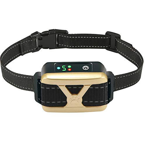 Bark Collar for Dogs,Rechargeable Anti Barking Training Collar with 5 Adjustable Sensitivity and Intensity Beep Vibration for Small Medium Large Dogs
