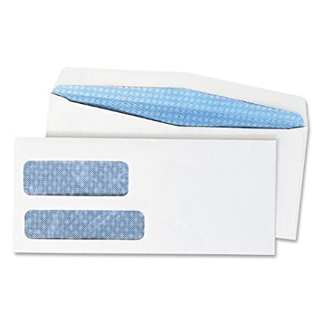 Quality Park #10 Double Window Envelope 24550 500 Envelopes Regular Gum