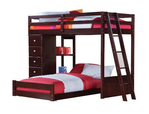 Amazon Com Twin Over Twin Modular Loft Bed With Chest Kitchen Dining