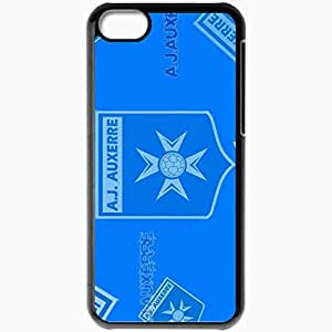 Personalized iPhone 5C Cell phone Case/Cover Skin AJA Ligue 1 0809 Auxerre Football Black