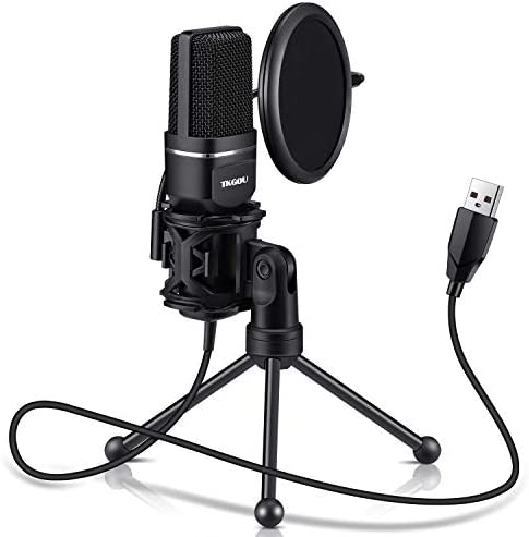 USB Microphone for Computer, Gaming PC Recording Condenser Microphone Tripod Stand & Pop Filter for Skype, Streaming, Podcasting, Google Voice Search, Gaming -Windows/Mac-M799B