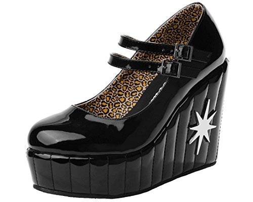 (T.U.K. Women's Sparkle Star Lux De Ville, Black, 6 M US)