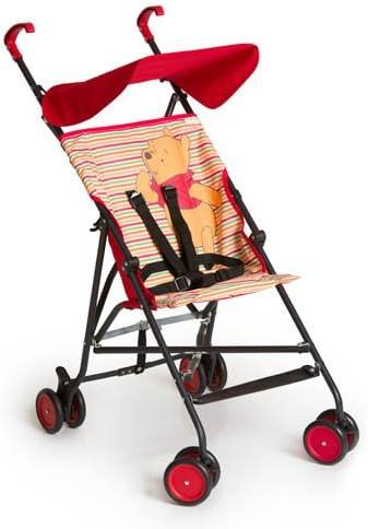 Hauck Sun Plus - Disney silla de paseo compacta y ligera, diseño disney, para bebes de 6 meses a 15 kg, pooh spring brights red (rojo)