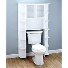 Deluxe Over-the-Toilet Space Saver White Cabinet