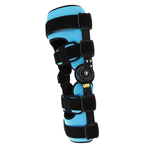 SXFYGYQ Ortesis de Rodilla con bisagras Ortesis de rótula Almohadilla estabilizadora Soporte para piernas Cinturón Envoltura Prevención de la degeneración de la articulación de la Rodilla