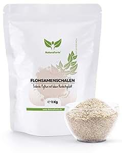 Psyllium Husk 1Kg | Cáscaras de Psyllium Triturado | 100% Fibra Natural | Reduce el Apetito y Estreñimiento | Mejora Transito Intestinal | NaturaForte