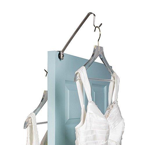 (Richards Homewares Brushed Richards Long Gown & Wedding Dress Elevated Hook Design-Premium Stainless Steel-Removable and Adjustable Knob for Dual Door)