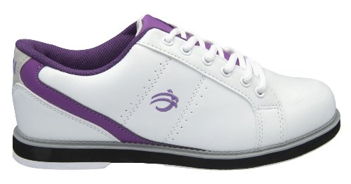 BSI Women's 460 Bowling Shoe, White/Purple, Size 7