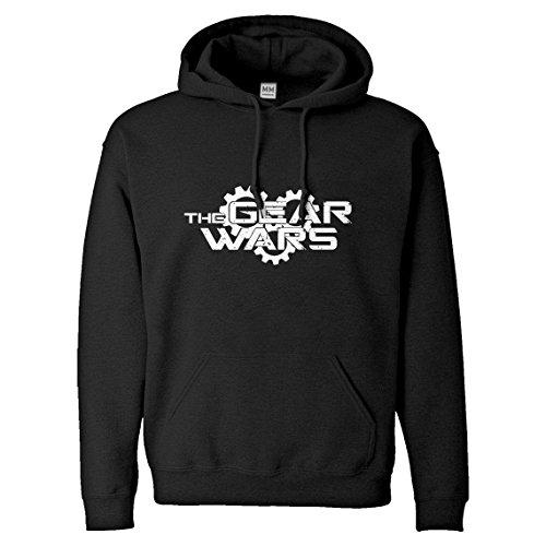 Hoodie The Gear Wars Small Black Hooded Sweatshirt