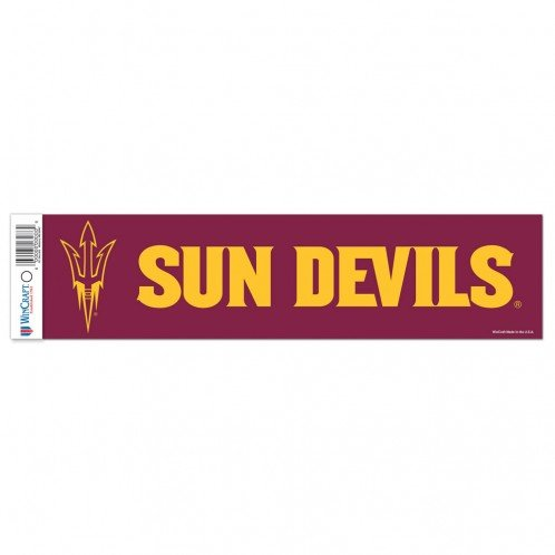 Team Colors WinCraft NCAA Arizona State Sun Devils Decal3x12 Bumper Strip Decal One Size