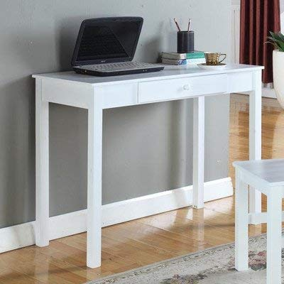 - InRoom Designs Rectangular Writing Desk 30'' H x 38'' W x 18'' D-White