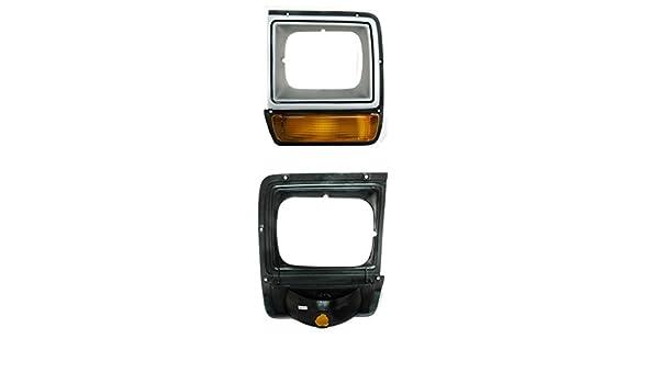 Partslink Number CH2512122 Genuine Dodge Pickup//Ramcharger Driver Side Headlight Door