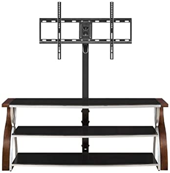 Whalen Furniture XLEC54-NV 3-in-1 Flat Panel TV Stand and Entertainment Console, 54-Inch