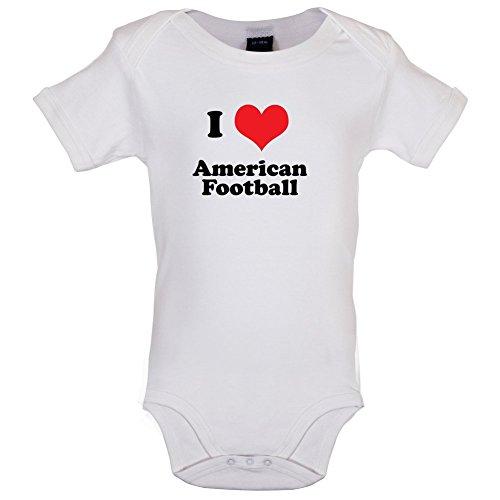 I Love American Football - Lustiger Baby-Body - Weiá - 0 bis 3 Monate