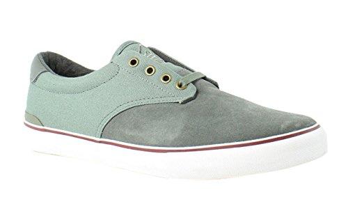 Dekline Men's Dakota Skateboard Shoe, Castor Grey/White, 9.5 M (Dekline White Shoes)