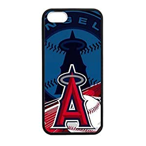 Cellphone Accessories iPhone 5/5s TPU Case Los Angeles Angels Background Design (Laser Technology)-by Allthingsbasketball