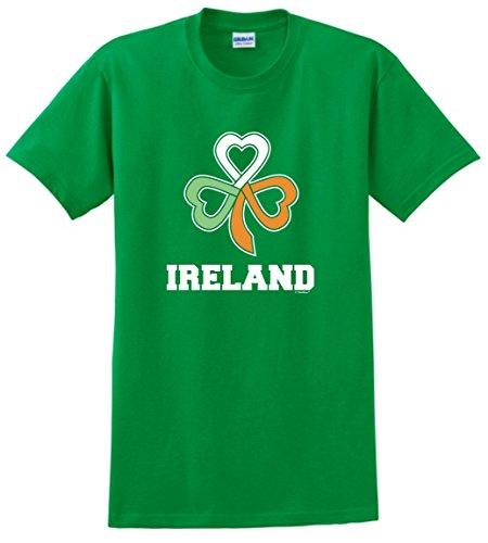 Funny ST Patricks Day accessories Ireland Gaelic Knot hearts Shamrock Irish Flag T-Shirt 3XL (Irish Heart Green T-shirt)