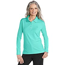 Coolibar UPF 50+ Women's Long Sleeve Polo Shirt - Sun Protective