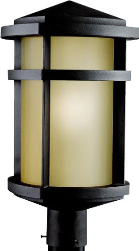 (Kichler 9967AZ Lantana Outdoor Post Mount 1-Light, Architectural)