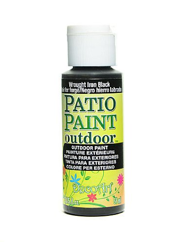 Patio Paint Wrought Iron - DecoArt Patio Paint wrought iron black 2 oz. [PACK OF 8 ]