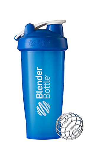 BlenderBottle Classic Loop Top Shaker Bottle, Blue/Blue, 28-Ounce Loop Top