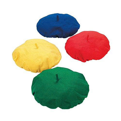 French Party Decorations (FELT BERETS (1 DOZEN) - BULK)